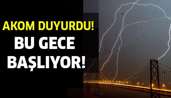 Meteoroloji İstanbul için uyardı! Su baskınlarına dikkat