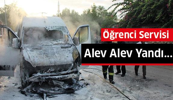 Muğla'da Öğrenci Servisi Alev Alev Yandı...