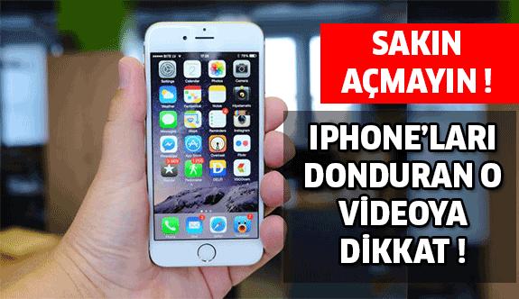 Iphone'ları Donduran O Videoya Aman Dikkat !