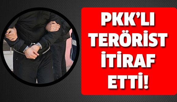 PKK'lı terörist itiraf etti!
