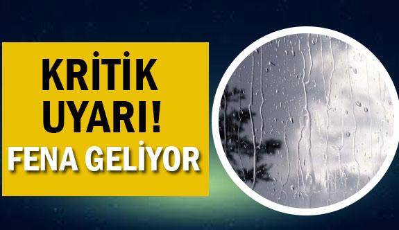 Son Dakika: Marmara için uyarı!