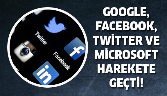 Google, Facebook, Twitter ve Microsoft güçlerini birleştirdi