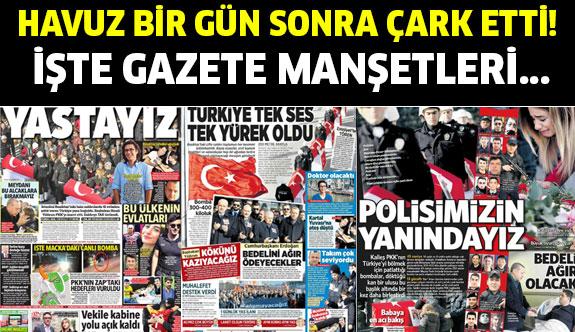 Hain saldırıdan sonra gazete manşetleri olay yarattı!