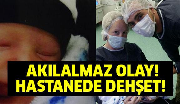 Hastanede skandal! Yeni doğan bebeğin kulağı...