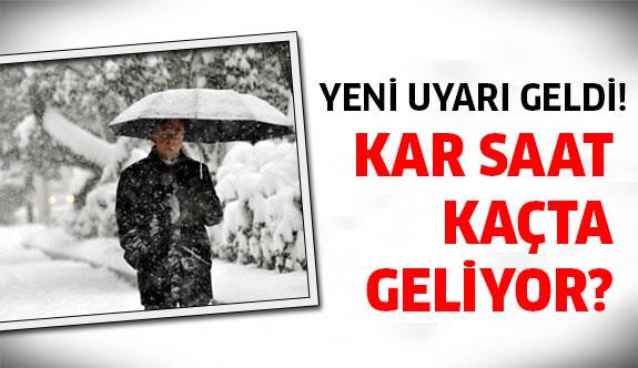 İstanbullular dikkat! Çok fena kar geliyor