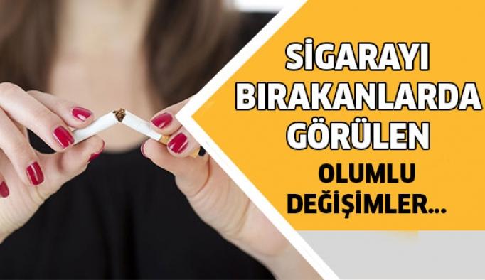 Sigarayı bırakan kişilerde görülen değişiklikler