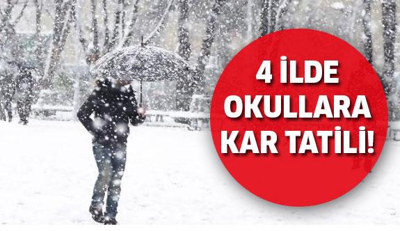 Yoğun kar nedeniyle 4 ilde okullar tatil edildi!