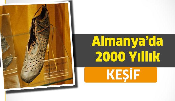 Almanya'da 2000 yıllık bir antik ayakkabı bulundu