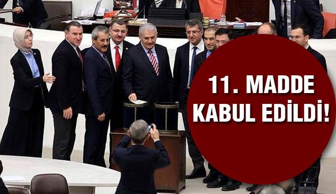 Anayasa teklifinde 11. madde kabul edildi!