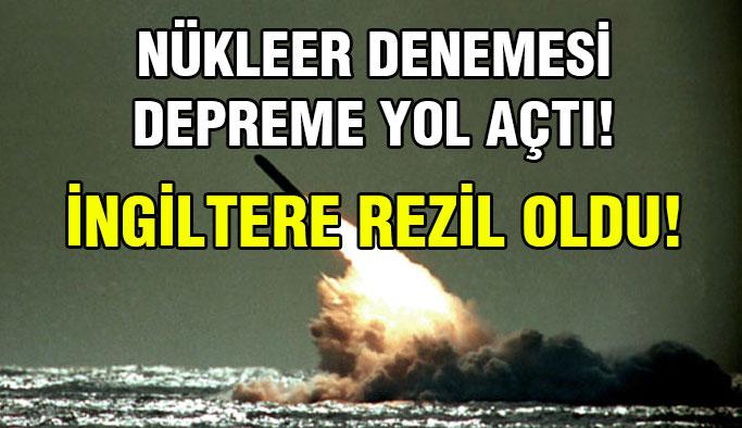 Başarısız Nükleer Deneme Depreme Yol Açtı !