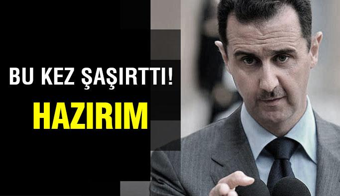 Beşar Esad'dan şaşırtan çıkış!