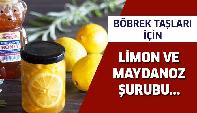 Böbrek Taşlarını Tedavi Edecek Limon Ve Maydanoz Şurubu