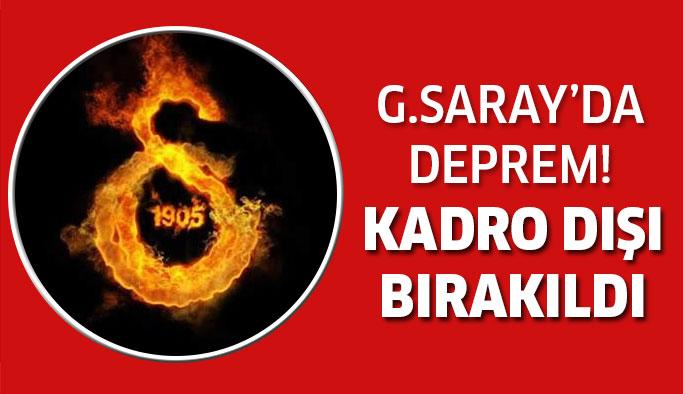 Galatasaray'da kadro dışı bırakıldı!