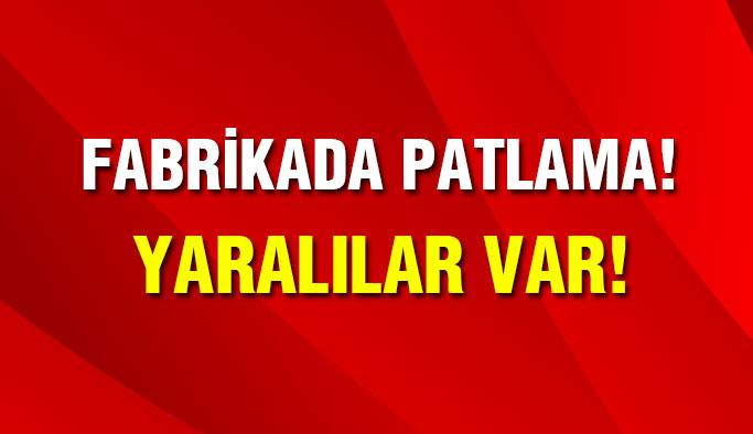 Hadımköy'de fabrikada patlama:Yaralılar Var !