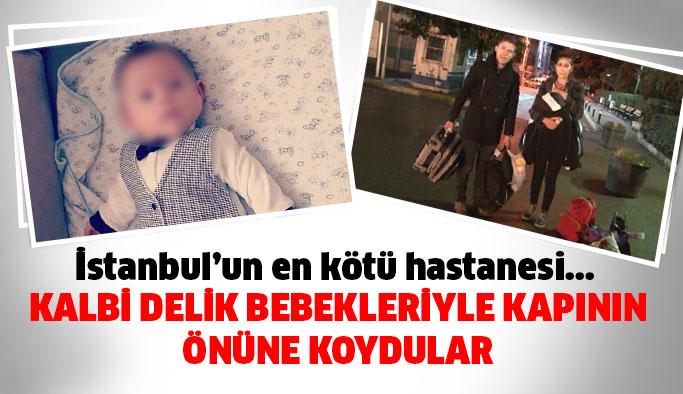 Kalbinde Delik Olan 3 Aylık bebek Hastane Kapısında Kaldı
