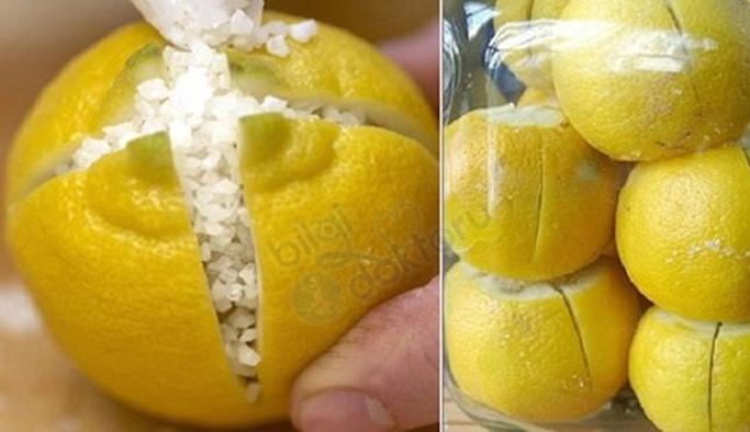 Limonun Üzerine Tuz dökün ve odanızın Havasını Değiştirin!