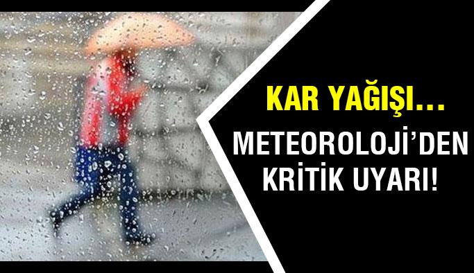 Meteoroloji'den kritik uyarı! Bu güne ve saate dikkat