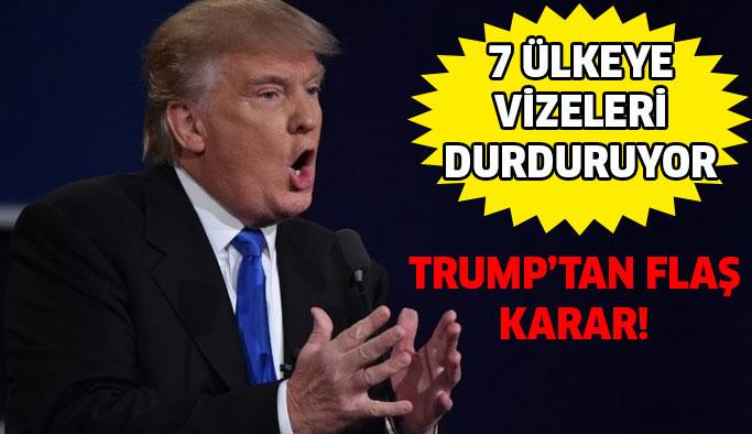Trump 7 ülkenin vatandaşlarının ABD'ye girişini sınırlayacak mı ?