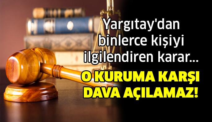 Yargıtay'dan emsal olacak KHK kararı