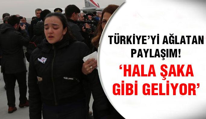 Şehit kızının Türkiye'yi ağlatan paylaşımı