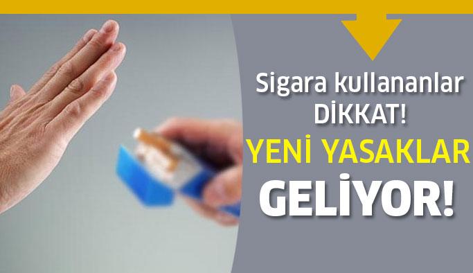 Sigaraya Yeni Yasaklar Yolda !