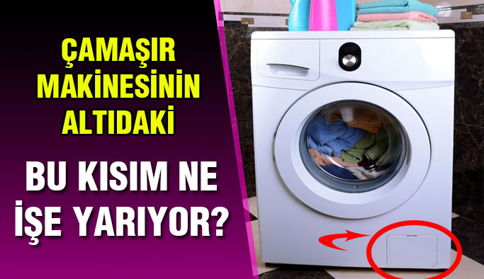 Çamaşır makinesinin alt köşesindeki kapak ne işe yarıyor?