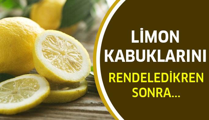 Limon kabuklarını rendeledikten sonra...