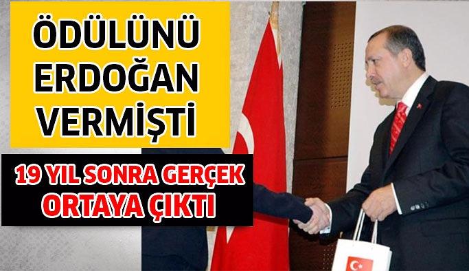 Ödülünü Erdoğan vermişti, 19 yıl sonra gerçek ortaya çıktı