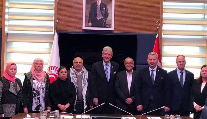 Başkan Bozkır Filistin ve Türkiye Heyetini Kabul Etti