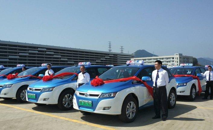 Çin'de otobüslerden sonra taksiler de elektrikli oldu!
