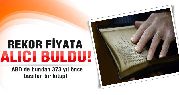 373 yıllık kitaba dudak uçuklatan fiyat!