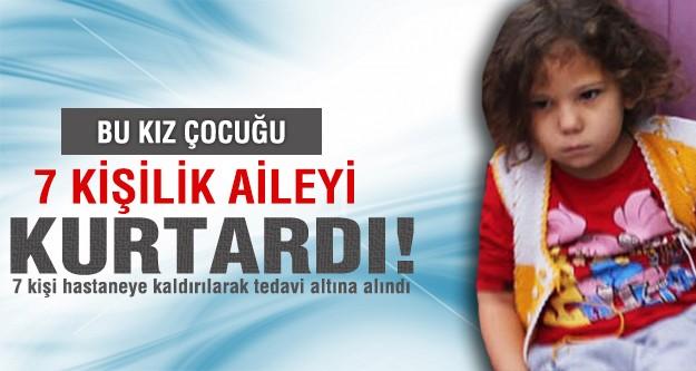 5 yaşındaki Elanur ağlayarak ailesini kurtardı