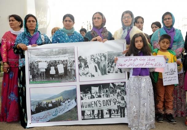 8 Mart Kadınlar Günü Erbil'de kutlandı
