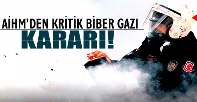 AİHM'den kritik biber gazı kararı