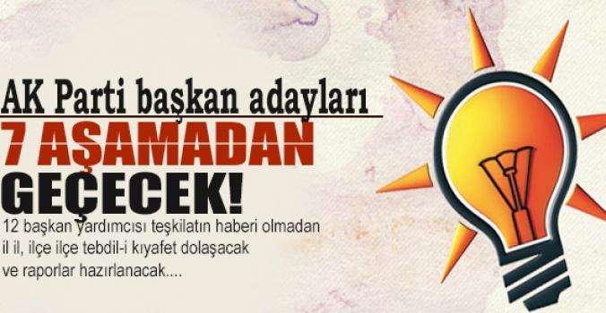 AK Parti başkan adayları 7 aşamadan geçecek..Aşama sonucunda ilan edilecek...