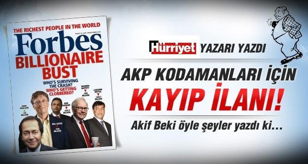 AK Parti kodamanları için kayıp ilanı!