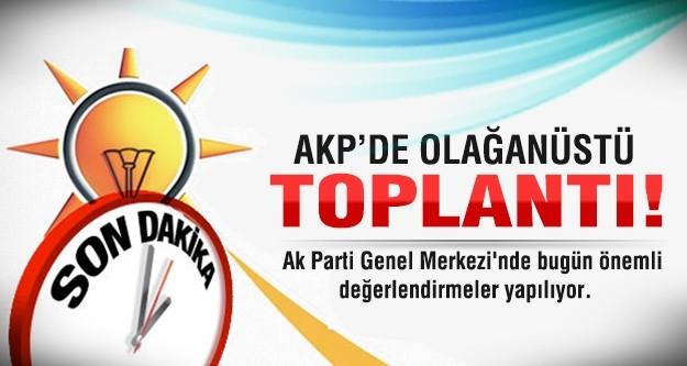 AK Parti'de olağanüstü toplantı