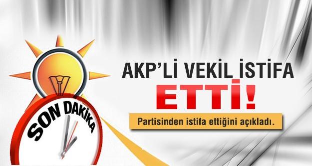 AK Partili vekil istifa etti