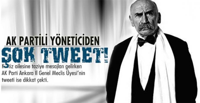 AK Partili yönetici'nin tweet'i şok etti.