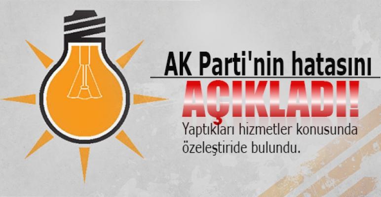 AK Parti'nin hatasını açıkladı