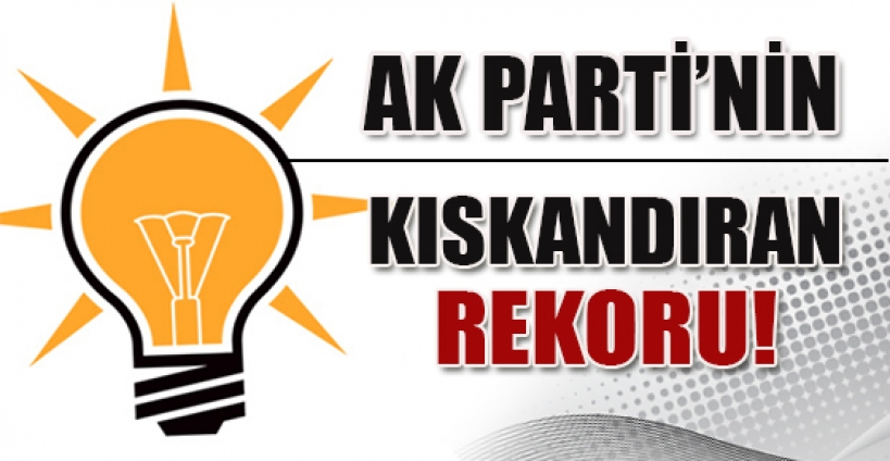 AK Parti'nin kıskandıran rekoru