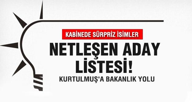 AKP'nin kabine revizyonunda sürpriz adaylar..