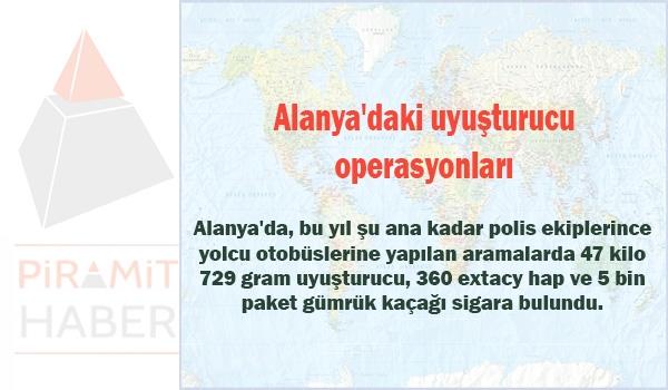 Alanya'daki uyuşturucu operasyonları