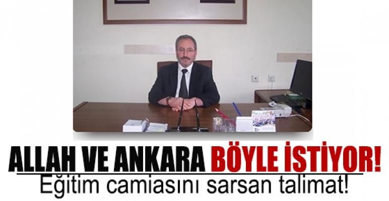 'Allah ve Ankara böyle istiyor!'