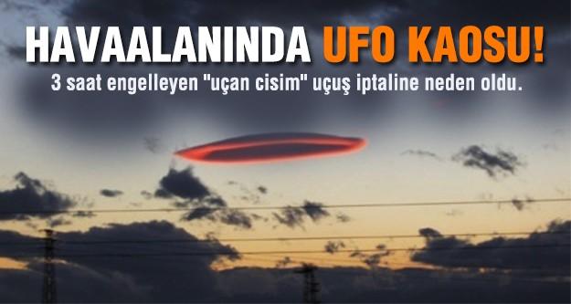 Almanya'da havaalanında 'UFO' kaosu
