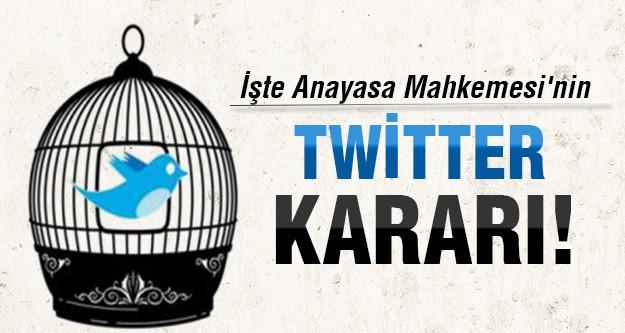 Anayasa Mahkemesi Twitter için ne karar verdi?