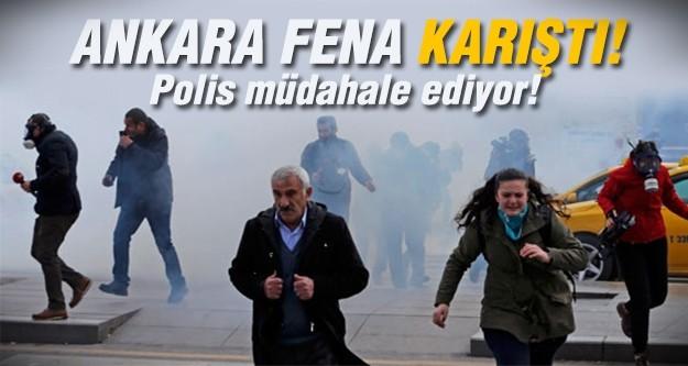 Ankara karıştı... Polis müdahale ediyor...