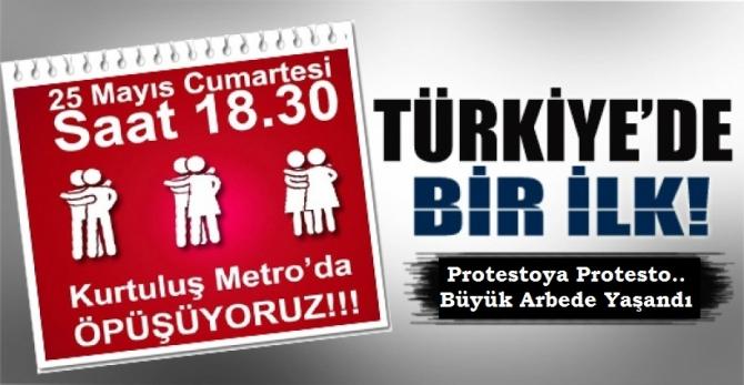 Ankara Metrosundaki Öpüşme Eyleminde Olaylar