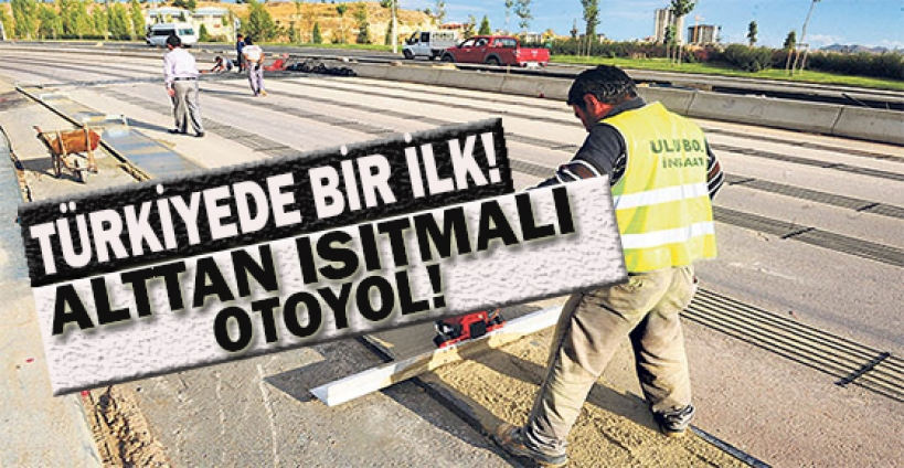 Ankara'da alttan ısıtmalı yol elektrtik bekliyor