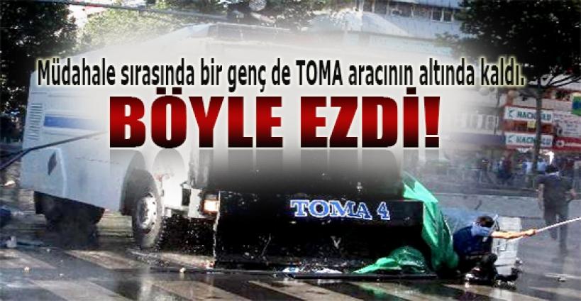 Ankara'da bir genç TOMA'nın altında kaldı